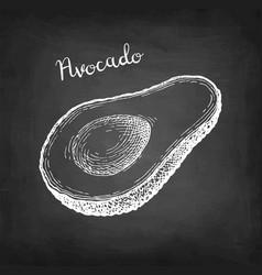 Chalk sketch avocado vector