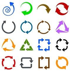 Circulation arrows icons set vector image