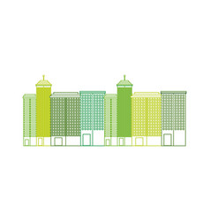 City green ecology cityscape vector