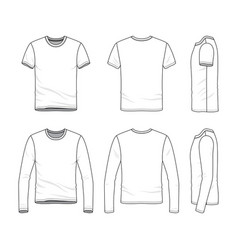 Clothing set of male shirt and tee vector