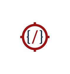 Code target logo icon design vector