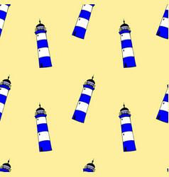 colorful lighthouses pattern vector image