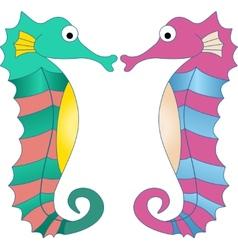 Colorful Seahorses vector