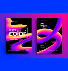 creative art design poster with vibrant gradients vector image