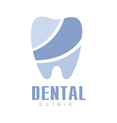 dental clinic blue logo symbol vector image