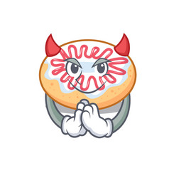 Devil jelly donut mascot cartoon vector