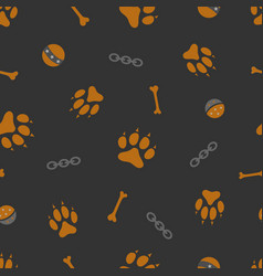 dog theme seamless pattern vector image
