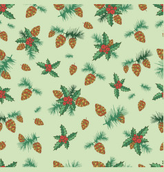 festive decorative seamless background lump pine vector image