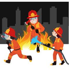 Fireman collection vector
