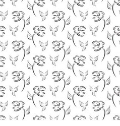 Flower creative pattern vector