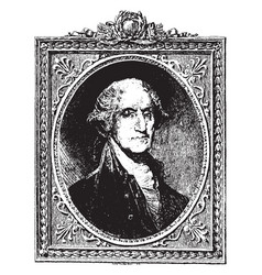 george washington vintage vector image