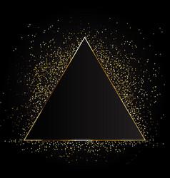 golden magic fire triangular frame vector image