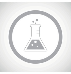 Grey conical flask sign icon vector