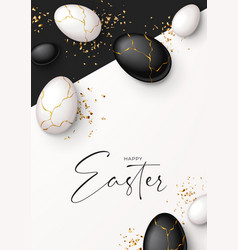 happy easter holiday poster vector image