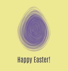 happy easter ultra violet card egg hunt for vector image