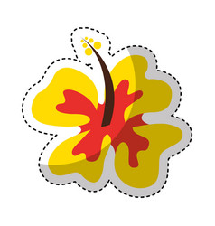 Hawaii cute flower icon vector