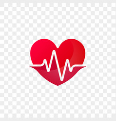 Heart heartbeat logo icon vector