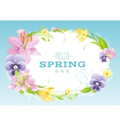 Hello Spring background Easter Mothers day vector image