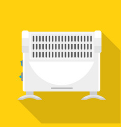 Home heater icon flat style vector