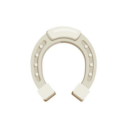 horseshoe isolated icon vector image