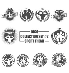 logo collection set with sport theme vector image