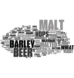 Malted word cloud concept vector