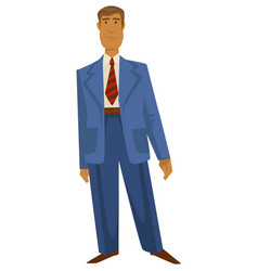 Man in 1940s fashion style vintage oversize suit vector