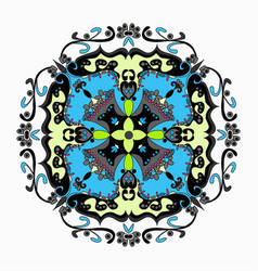 Mandala vintage elements vector