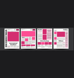 Newspaper abstract news template blank vector