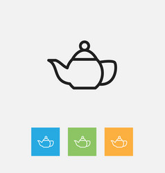 Of cook symbol on teapot vector