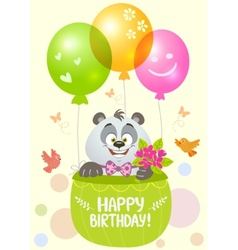 panda birthday vector image