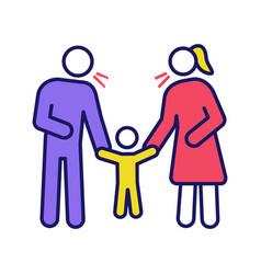 Parents scolding child color icon vector