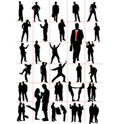 People silhouettes men women pair couple vector