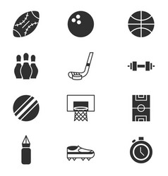 pictogram sport equipment related icons set vector image