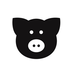 Pig icon porkanimal symbol flat sign isolated on vector