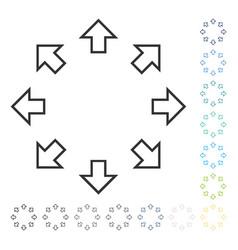 Radial arrows icon vector