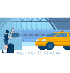 railway station transfer online taxi vector image