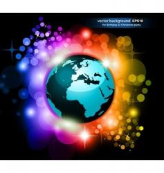 Rainbow earth future vector