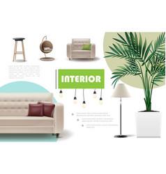 realistic home interior concept vector image