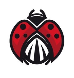 Red and black ladybug or ladybird vector