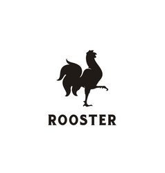 Rooster chicken meat cock poultry farm logo vector