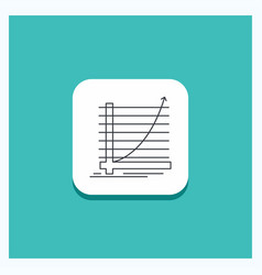 round button for arrow chart curve experience vector image
