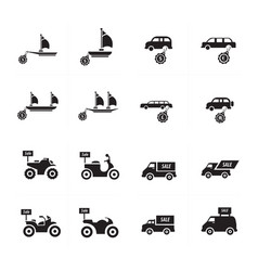 Sale vehicle set vector