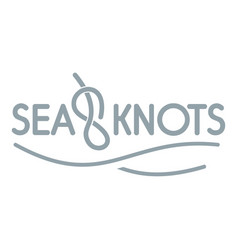 seaknot logo simple gray style vector image