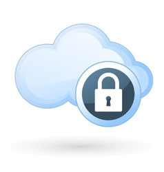 Security in cloud computing - cloud and padlock vector