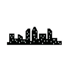 silhouette city skyline buildings architecture vector image
