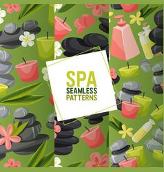 spa stone seamless pattern zen stony vector image