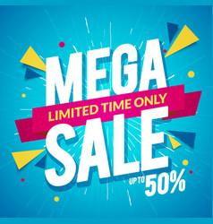 special offer big sale mega sale banner vector image