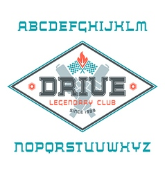 Square serif font vector image