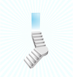Stairways to heaven concept vector